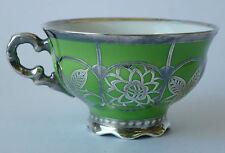 Mokka Tasse Porzellan Porcelain cup Silber Silveroverlay Veyl Art Deco