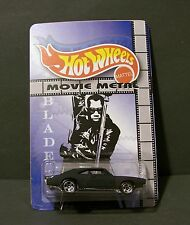 """Custom HotWheels Dodge Charger and package of  """"Movie Metal""""  from BLADE"""