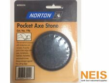 Norton Pocket Axe Stone Knife Sharpening Stone 7.5cm Diameter BE205524 Cat# 196