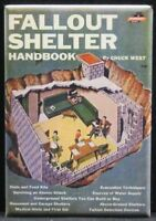 "Vintage Fallout Shelter Handbook Book Cover 2"" X 3"" Fridge / Locker Magnet."
