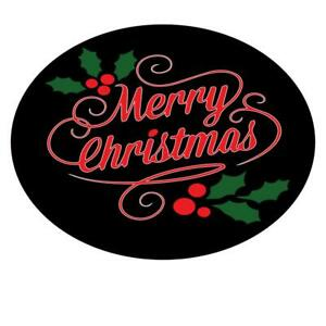 Merry Christmas Leaf Stickers Santa Father Present Xmas Gift Bags Round Labels