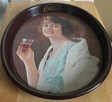 Vintage Coca Cola Coke Tray Platter 1973 Flapper Girl Collectible