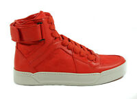 NEW GUCCI 409766 Men's Nylon/Leather GG Guccissima High-Top Sneaker 11.5G 12.5US