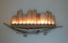 Lovely shabby chic, rustique, unique en bois flotté étagère, T-Light Bougeoir Appliques