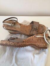 Stella McCartney Lorien Beige Cork Wedge Sandal Wedge Size 39.5  6.5