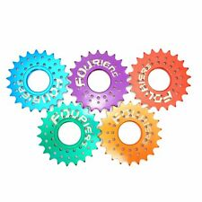 "Fouriers Fixed Gear Cog Threaded 17/18/19/20/21/22T Single 1/8""or 3/32"" 5 Colors"