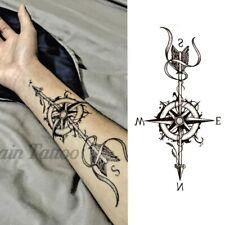 High Quality 19cm x 9cm Fake Temporary Tattoo Compass Arrow /-b314-/