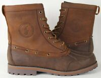POLO Ralph Lauren Whitsand Leather Boots Tan Brown NWT