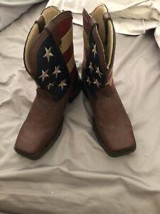 Durango Lady Rebel American Flag Cowgirl Boot - Square Toe - 8.5  Please Read