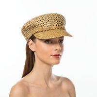 Authentic NWT Eric Javits Designer NYC Women's Hat - Capitan in Natural