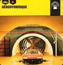 AERODYNAMIQUE Soufflerie FERRARI à PININFARINA : Fiche Technique Auto Collection