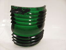 "VINTAGE glass  GREEN STARBOARD  NAVIGATION LENS  5&5/8 "" TALL WML & CO"