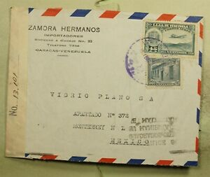 DR WHO 1942 VENEZUELA CARACAS TO MEXICO CENSORED AIR MAIL C189244