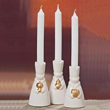 Weihnachtliche Porzellan Kerzenhalter Dolomit im 3er Set - Heilige drei Könige
