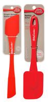 Betty Crocker Red Silicone Double & Regular Spatula Lot of 2 Silicone Spatulas