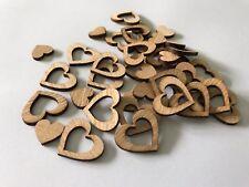 100 Streudeko Holz Herz Tischdeko Hochzeit Dekoherzen Herzchen Set gerade Dunkel