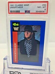 1991 Classic WWF WWE Undertaker Rookie PSA #64 PSA 8