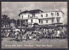 SAVONA PIETRA LIGURE 80 ALBERGO HOTEL VILLA MARINA Cartolina FOTOGRAFICA