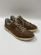 #296 Mephisto Brown Leather Sneakers Size 9.5