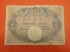 Billet de 50 Francs Bleu et Rose type 1889 19-5-1916