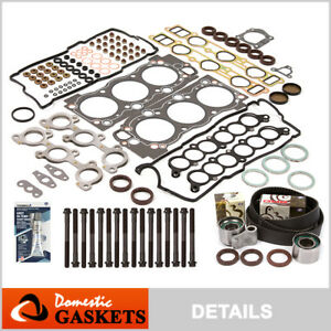 Fit 95-04 Toyota Tacoma Tundra 3.4L Head Gasket Bolts Set+Timing Belt Kit 5VZFE