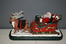 Holiday Creations Animated Musical Santa with Reindeer and Sleigh