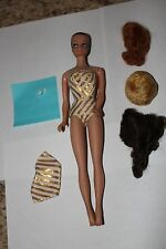 VINTAGE FASHION QUEEN BARBIE #870 WITH 3 WIGS, OUTFIT 2 SHOES