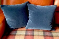 Ralph Lauren Luxury Mohair Velvet Cushion Covers Dark Slate Grey Blue Midnight