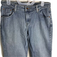 Levi's Signature Womens Denim Blue Jeans Low Rise BootCut Size 12 Short