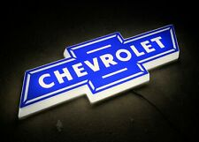 CHEVROLET CHEVY BOWTIE EMBLEM BADGE SIGN LED LIGHT BOX GARAGE PETROL GASOLINE