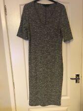 Dorothy Perkins Sz12 Grey Marl Ribbed Dress Great For Spring