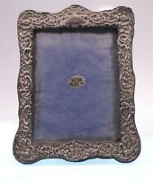 ANTIQUE EMBOSSED SILVER ORNATE PICTURE FRAME PHOTO