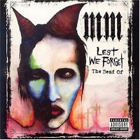 MARILYN MANSON Lest We Forget The Best Of CD BRAND NEW