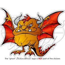 DEVIL BAT Dragon Monstre de Halloween Bête Autocollant