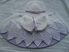 """BABY OR REBORN """"NEW"""" LACE DELIGHT COAT AND BEANIE HAT KNITTING PATTERN"""