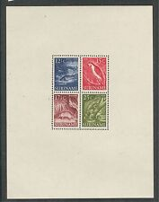 WILDLIFE: CAT FISH, MACAW, ARMADILLO, IGUANA ON SURINAM 1955 Sc 263a, V.F.Hinged
