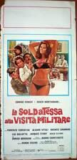 locandina 1977 La SOLDATESSA alla Visita Militare-Edwige Fenech-Renzo Montagnani