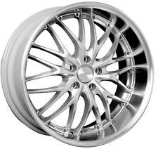 MRR GT1 18x8.5 5x114.3 ET35 Hyper Silver Wheels Fits Mazda 3 Rx8 Eclipse Tc