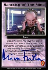 BABYLON 5 CCG Mira Furlan PSI CORPS Sanctity of the Mind AUTOGRAPHED