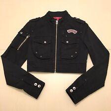Ochirly Women's Fashion Patch Cropped Jacket Size US Small Black