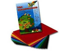 Folia Tonpapier 10 Blatt 22x32cm 10 Farben Klappmappe Buntpapier Bastelpapier