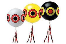 Set kit 3 palloncini gonfiabili 40 cm scaccia uccelli volatili spaventapasseri