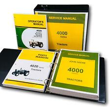 SERVICE PARTS OPERATORS MANUAL SET FOR JOHN DEERE 4020 TRACTOR SHOP REPAIR BOOKS