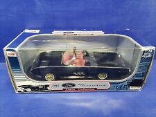1/18 ANSON 1963 FORD THUNDERBIRD SPORT ROADSTER BLACK with GOLD TRIM rd