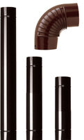 12 tubi Ø 10x100 cm acciaio smaltato marrone tubo per stufa stufe a legna