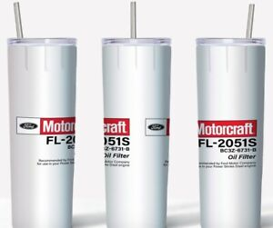 Ford Motorcraft Oil 20oz Skinny Tumbler custom drinkware Clean Style with straw