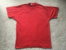 Vintage 1980s Screen Stars Best Plain Blank Red T-Shirt vtg 1990s