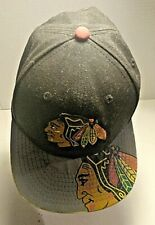 Chicago Blackhawks NHL New Era 9Fifty Black And Grey Hat Reflective StrapBack
