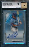 BGS 9/10 WANDER FRANCO AUTO 2019 Bowman Sterling Autograph Rookie RC GEM MINT