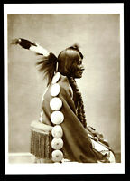 ⫸ 973 Postcard Big Mouth, Arapaho Warrior – 1875  Photo by unknown – NEW